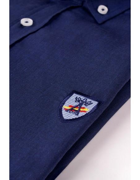 Camisa Azul Marina con Bandera de España