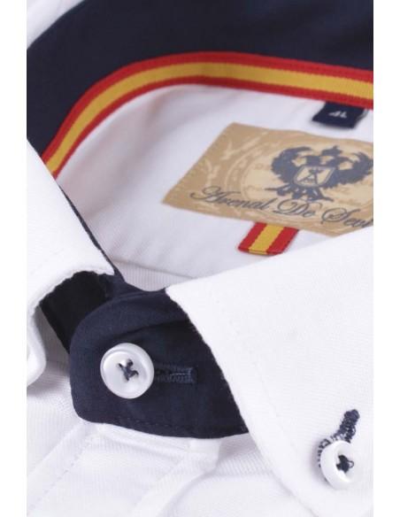Camisa bandera de España blanca.
