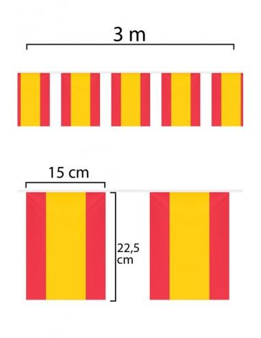 Guirnalda o Tira de Banderas de España de tela de 3m