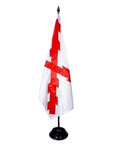 bandera cruz de borgoña bordada