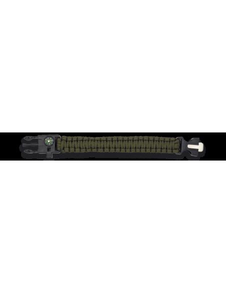 Pulsera Paracord Supervivencia Verde