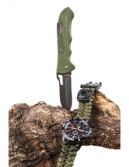 Set Supervivencia Reloj + Navaja