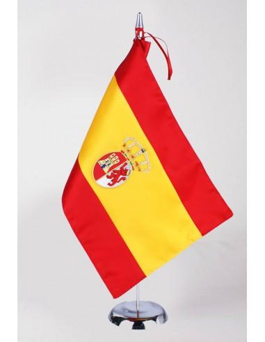 Banderín Sobremesa Bandera Carlos III Bordado