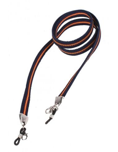 Cordón Elástico para Gafas Azul Bandera España