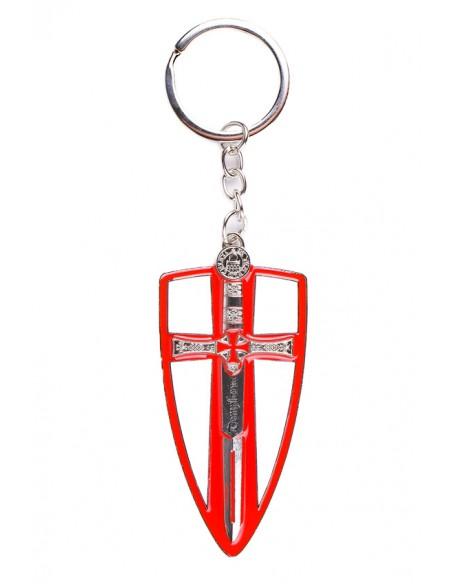Llavero Escudo Templario y Daga Templaria