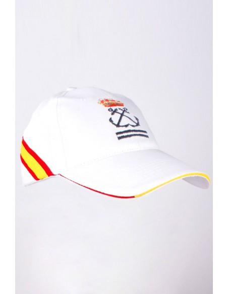 Gorra Patrón de Yate Bandera España Blanca
