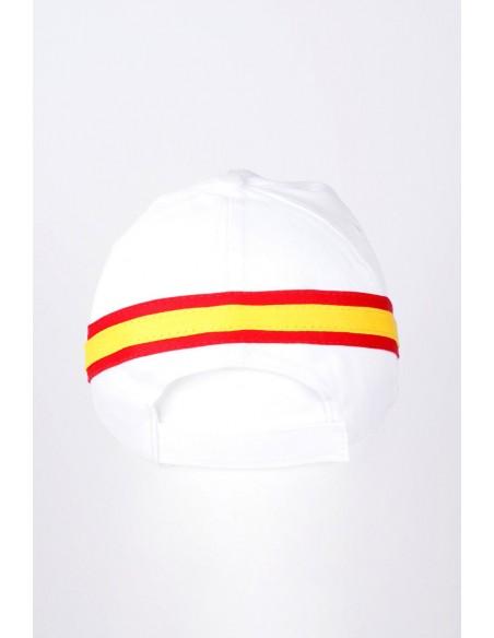 Gorra Capitán de Yate Bandera España Blanca