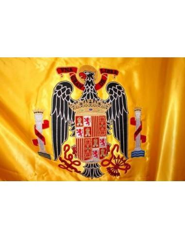 Bandera De España Con El águila De San Juan Bordada A Máquina