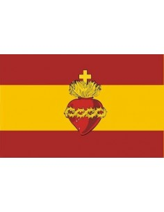 Sacred Heart Spanish Flag