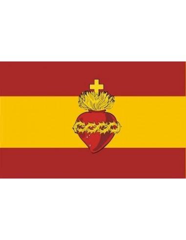 Sacred Heart Spanish Flag