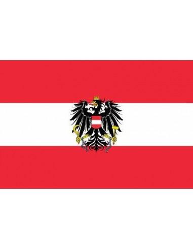 Bandera de Austria Actual en Raso de Alta Calidad