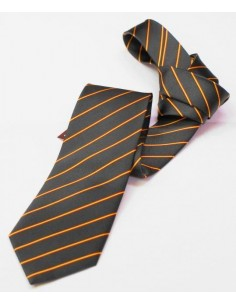 Striped Tie with Spanish Flag Details - Green