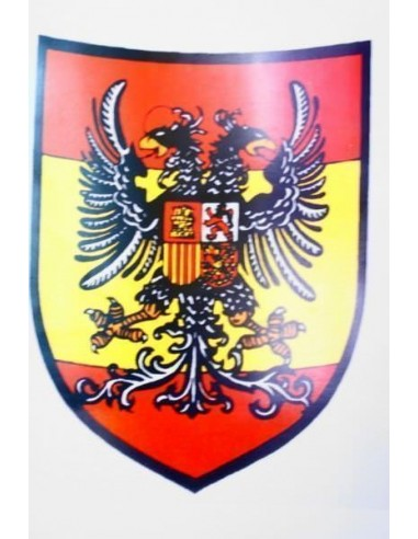 2-Headed Eagle Spanish Flag Metal Sheet