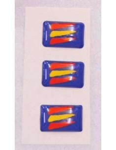 Pegatina Bandera España Manchas Relieve Mini