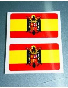 Pegatina Bandera Aguila 2 Unidades Grandes