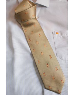 Banderillas tie - Gold color