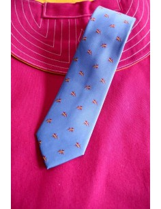 Light blue bull tie