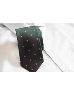 Spain Rosette Tie - Dark Green