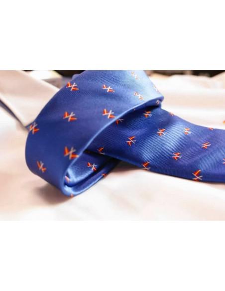 Corbata Banderas Náuticas - Azulina