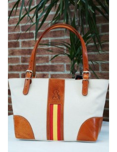 Spanish Flag Shopping Bag - White