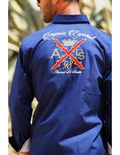 Borgoña's cross shirt for men- navy blue