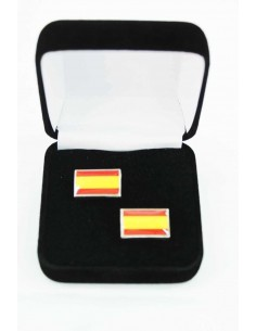 Gemelos Bandera España Sin Escudo
