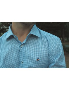 Thinly Checked Shirt - Blue