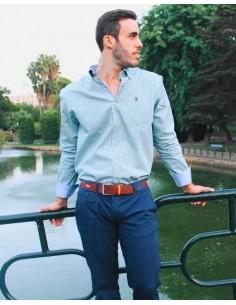 Camisa Sport Cuadros - Azul y Amarillo