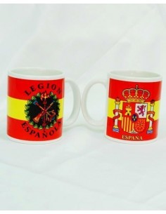 Legion flag and badge cup