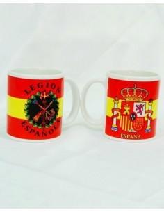 Taza Legión y Escudo de España