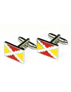 Spanish Flag Colors Cufflinks