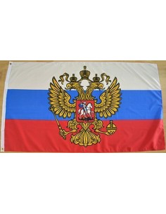 Bandera Rusia con Águila Poliéster