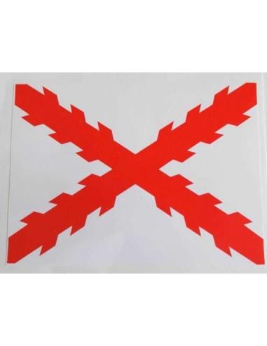 Pegatina Cruz Borgoña Grande
