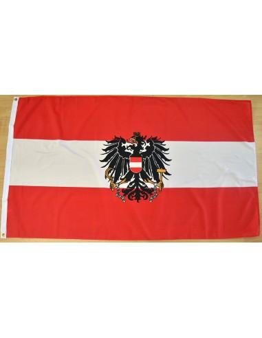 Bandera Austria con Escudo Poliéster
