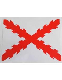 Pegatina Cruz Borgoña Mediana