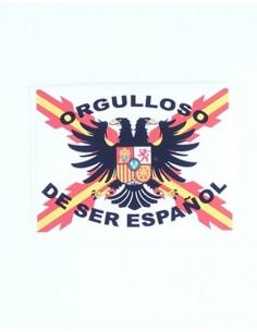 Pegatina Tercios de Flandes con leyenda y bandera España