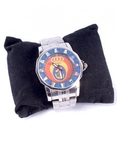 Reloj Marina Plata pvc Azul