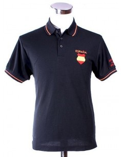 Spanish Blue Division Polo Shirt - Black