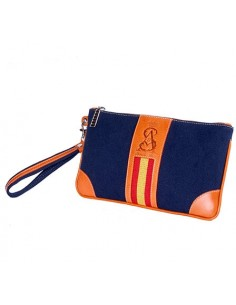Spanish Flag Wristlet - Navy Blue