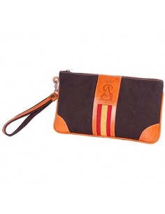 Spanish Flag Wristlet - Brown
