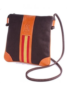 Spanish Flag Crossbody Bag - Brown