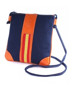 Spanish Flag Crossbody Bag - Navy Blue