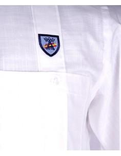 Camisa Cubana - Guayabera en Blanca
