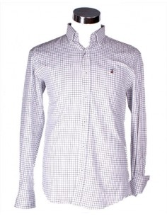 Checked Shirt - White