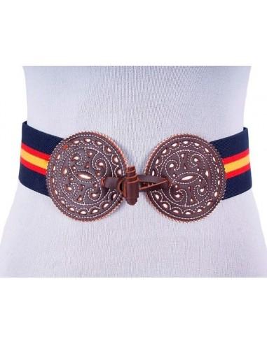 Spanish Flag Elastic Belt - Navy Blue