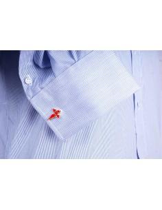 Camisa 1000 Rayas con el Cuello Italiano