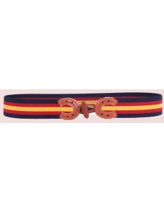 Spanish Flag Details Elastic Belt - Navy Blue