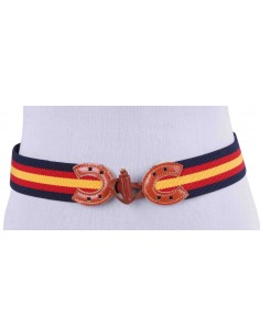 Spanish Flag Elastic Belt - Navy Blue