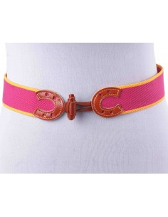 Pink and Yellow Elastic Belt