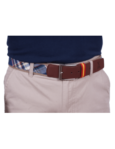 Checked Belt - Blue
